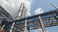 new high construction at the refinery - stock footage