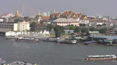 Tha Tien From Wat Arun p150 Stock Footage