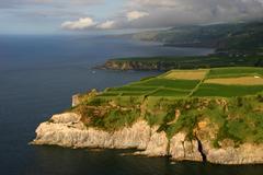 azores coast in sao miguel - stock photo