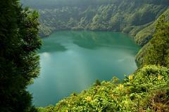 Azores lake Stock Photos