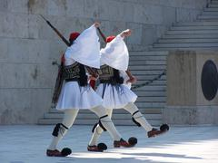 Greece Parliament Guards Stock Photos