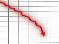 Stock Illustration of market crash