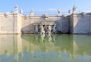 Stock Photo of belvedere palace fountain and garden
