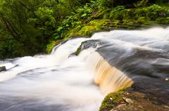 partial view mclean falls in the catlins - stock photo