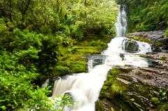 mclean falls in the catlins - stock photo