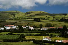 Azores typical view at the island of sao miguel Stock Photos