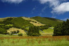 Azores landscape at sao miguel island Stock Photos