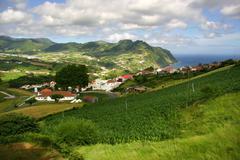 Azores village at sao miguel island Stock Photos