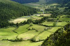 azores natural landscape in s miguel island - stock photo