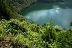 azores lake - stock photo