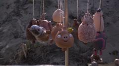 Stock Video Footage of Сlay souvenirs, ceramics market