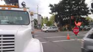 Stock Video Footage of Intersection Maintenance
