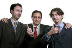 three business man isolated on white background - stock photo