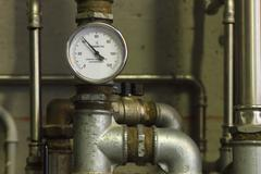 heating system manometer - stock photo