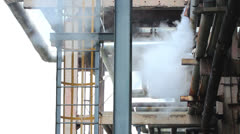 industrial steam. montage - stock footage