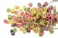sugary cereals - stock photo