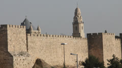 Christian churches of the old city of Jerusalem Stock Footage