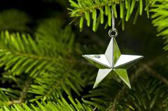 Star shape christmas tree decoration Stock Photos
