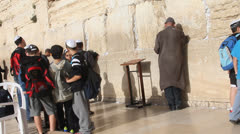 Western Wall. Jerusalem Stock Footage