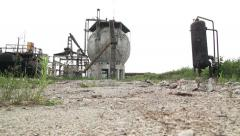 Abandoned factory.montage Stock Footage