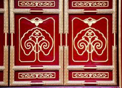 Decoration yin luan din great hall prince gong mansion beijing Stock Photos