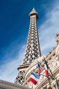 Eiffel tower restaurant on the las vegas strip in nevada Stock Photos