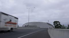 Melbourne City Link Gateway 01 - stock footage