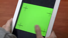 Turning Tablet to the Side 1 Stock Footage