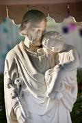 St. joseph baby jesus statue wangfujing cathedral beijing china Stock Photos