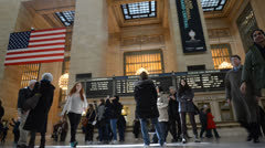 Grand Central HD time lapse video - stock footage
