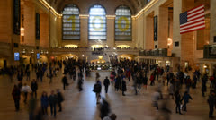 Grand Central Station Time Lapse Stock Footage