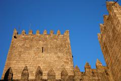 guimaraes castle - stock photo