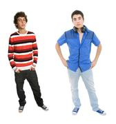 Two young men Stock Photos