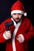 bad santa - stock photo