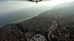 Aerial Shot: Round Trip, Burbank to Malibu, Part 3 - stock footage