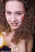 Painted face Stock Photos