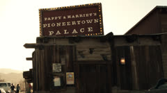 Pappy and Harriets Sign -  Pioneertown, CA Stock Footage
