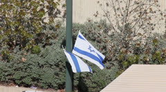 State flag of Israel Stock Footage