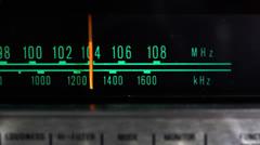 vintage radio dial - stock footage