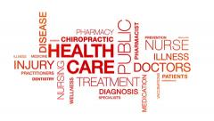 Stock Video Footage of Health Care Word Cloud Animation