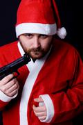 Stock Photo of bad santa