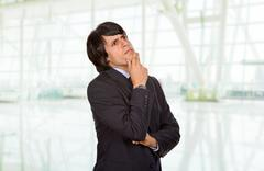 wondering - stock photo