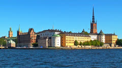 Old Town in Stockholm, Sweden - stock footage