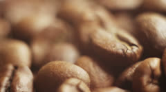 Roasted coffee beans close-up Stock Footage