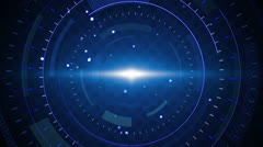 Blue techno circles loop background Stock Footage