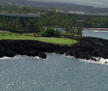 Waikoloa Beach Resort Golf Course – Beach Course Stock Footage