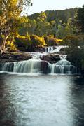 Waterfall close to cradle mountain lodge Stock Photos