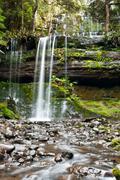 Russell falls, mount field national park, central tasmania Stock Photos