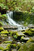 Horseshoe falls, mt field national park, tasmania Stock Photos