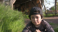 Stock Video Footage of Homeless poor little boy